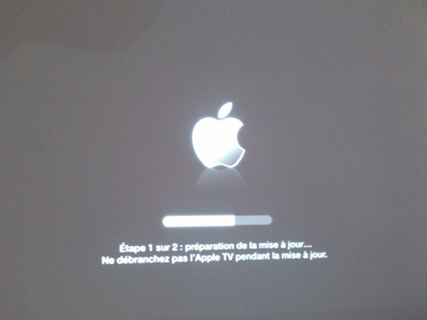apple tv maj étape 1