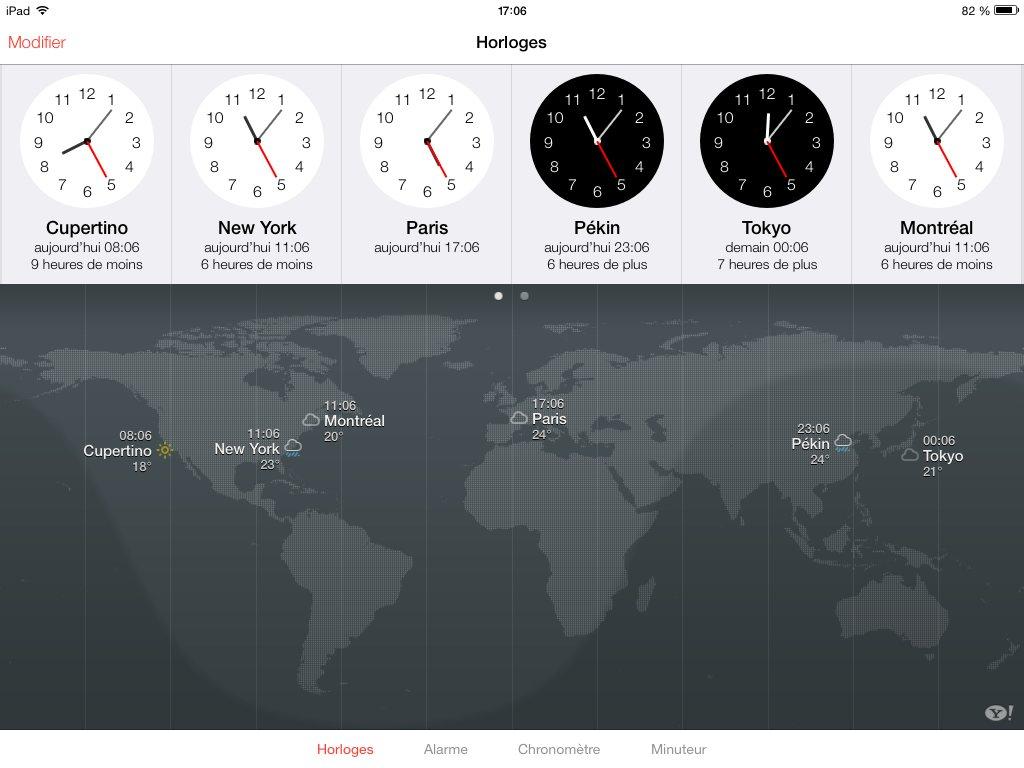 horloge ios7 beta