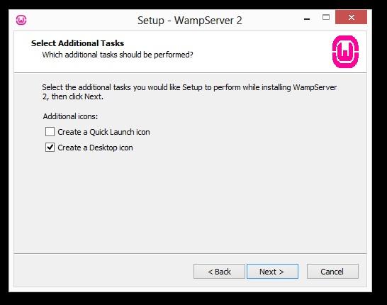installation wamp écran 4