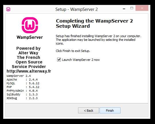installation wamp écran 3