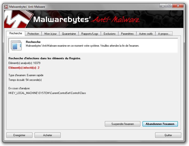 malwarebyte anti malware infection