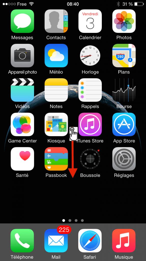 comment faire une recherche spotlight sur iphone