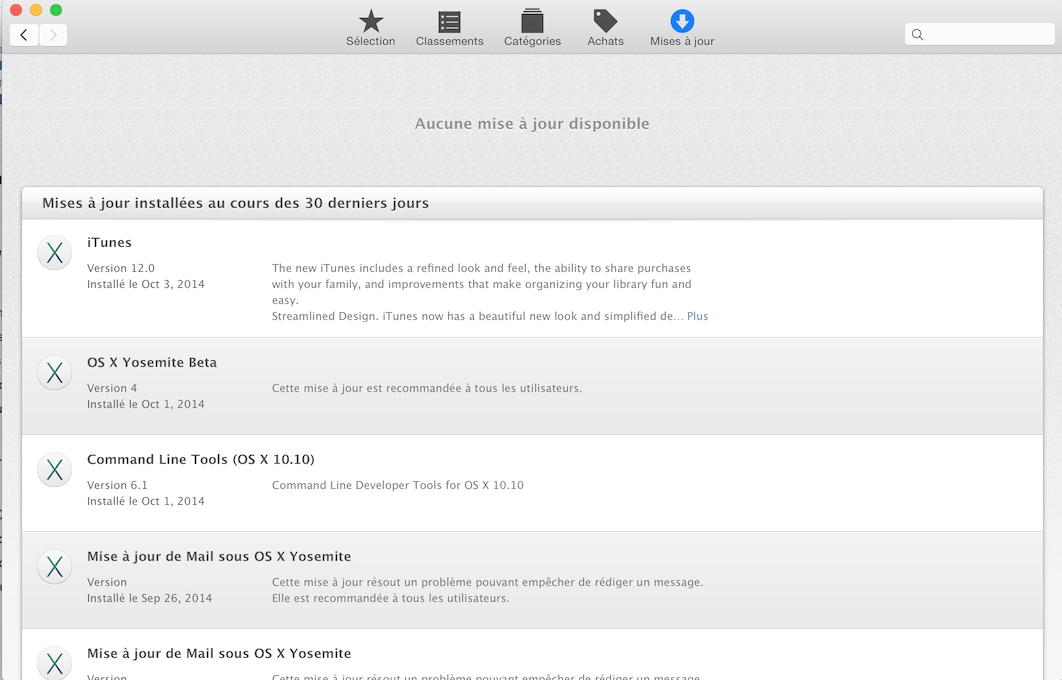 comment faire les mises  u00e0 jour logiciels pour mac os x