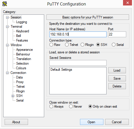putty-connexion-ssh