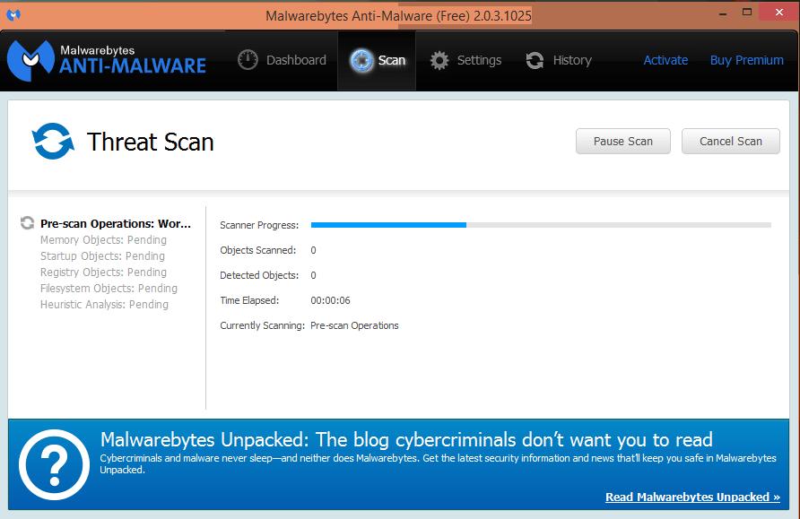 malwarebytes-exécution