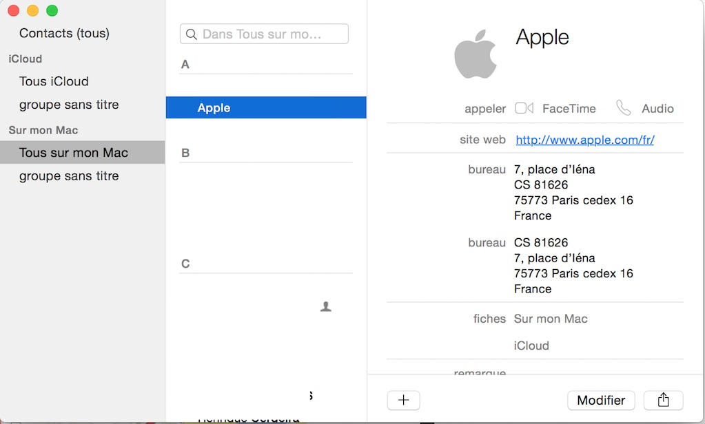 Comment Situer Un Contact Avec Plans Sous Macos Sierra