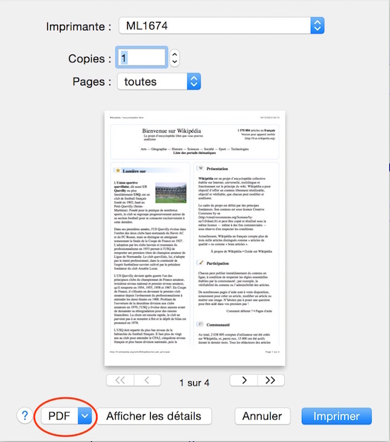 Comment transformer une page internet en fichier pdf avec - Comment convertir un pdf en open office ...