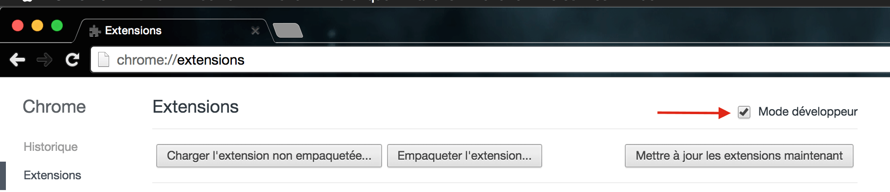 chrome-extension-Mode-dev