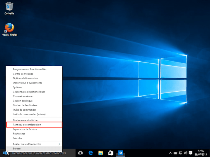 Windows 10 programme défaut