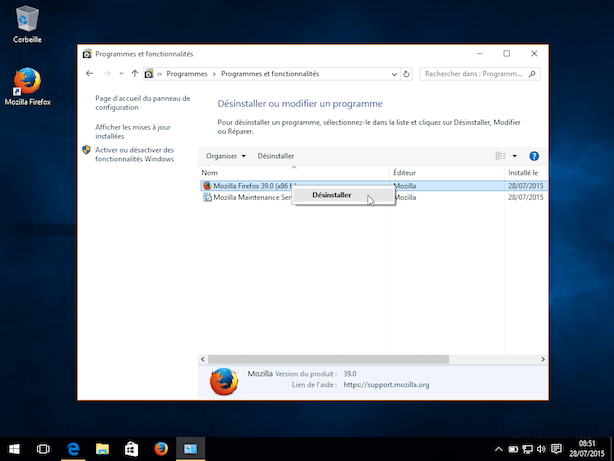 Comment supprimer un programme sous windows 8