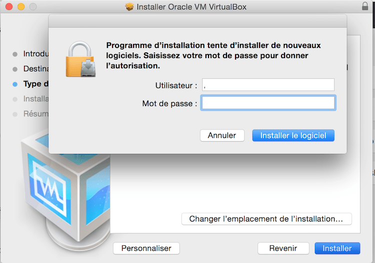 installation virtualbox 5