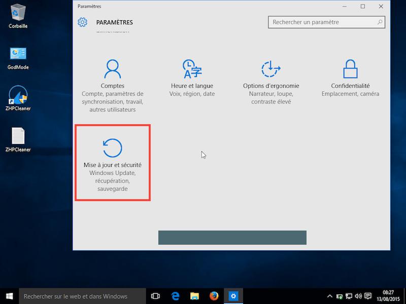 Windows 10 mise à jour 2