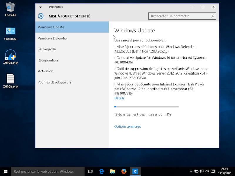 Windows 10 mise à jour 3