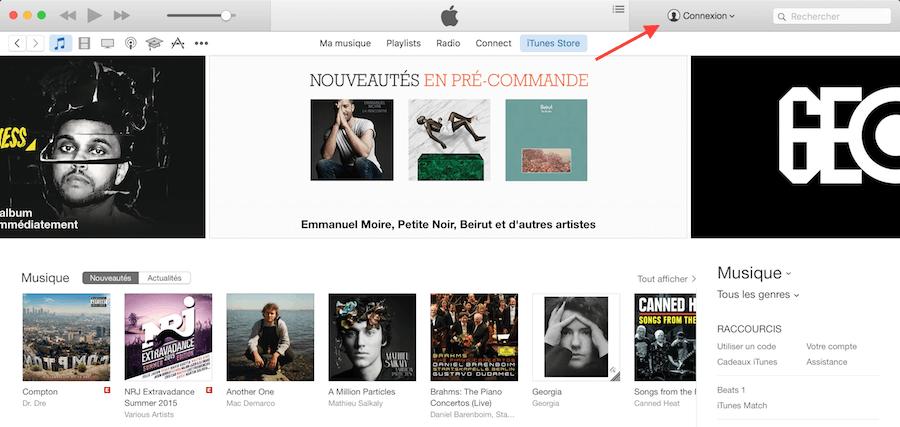 Créer compte iTunes sur Mac 1