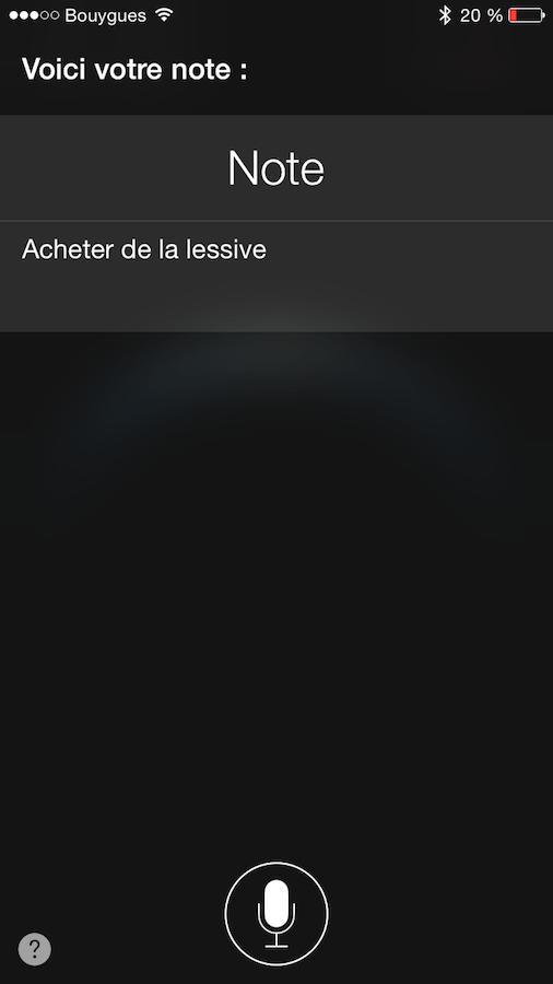 Créer une note sur iOS