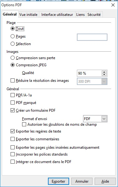 convertir un document open office en pdf dans windows 10