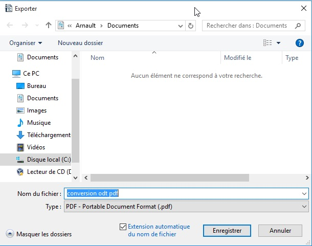 Convertir un document open office en pdf dans windows 10 - Comment convertir un fichier pdf en open office ...