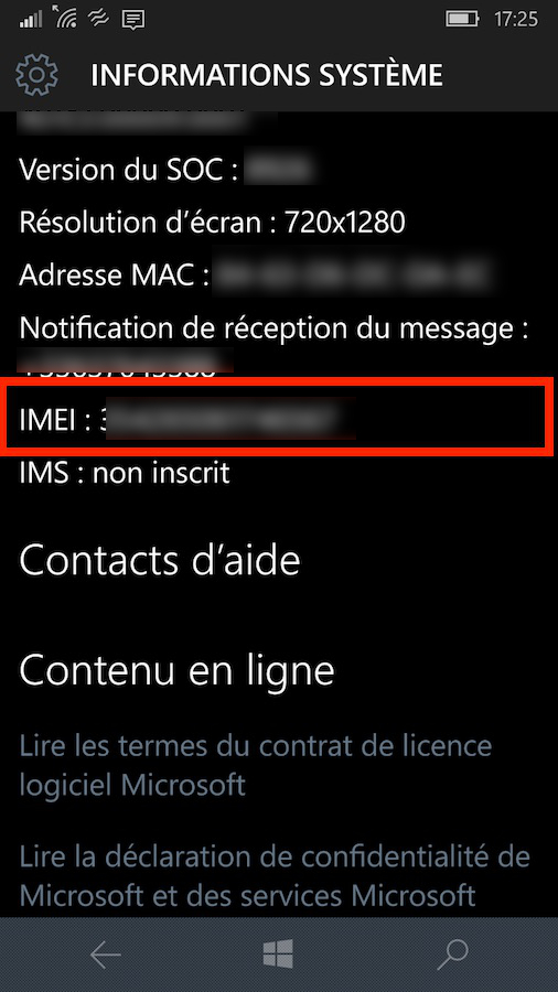 W10mobile-info-system