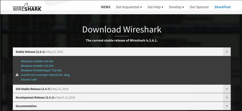 installer-wireshark-macos-1