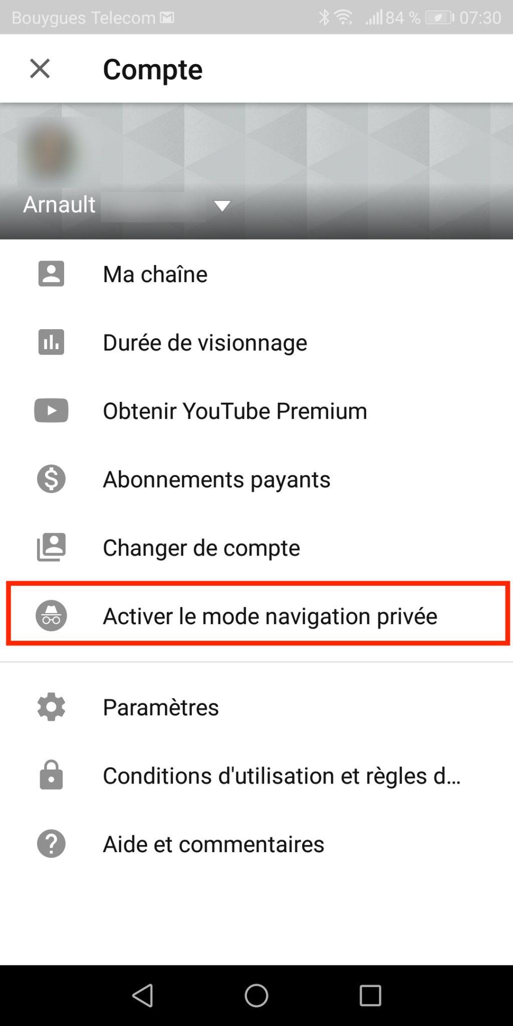 navigation-privee-youtube