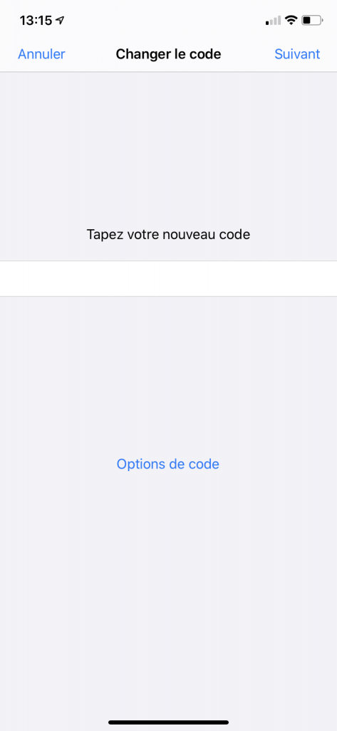 configurer un code alphanumérique sur iPhone 6