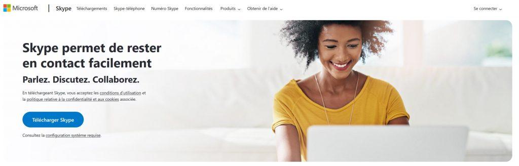 Site Internet Skype
