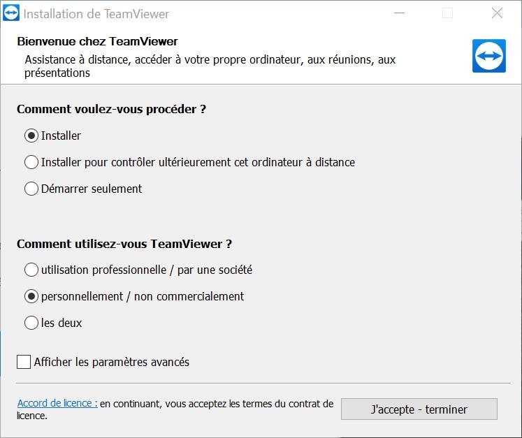 installer TeamViewer PC