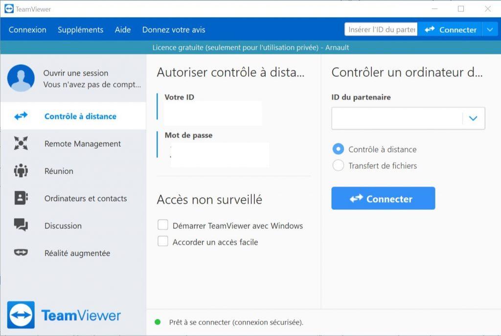 installer TeamViewer PC 2