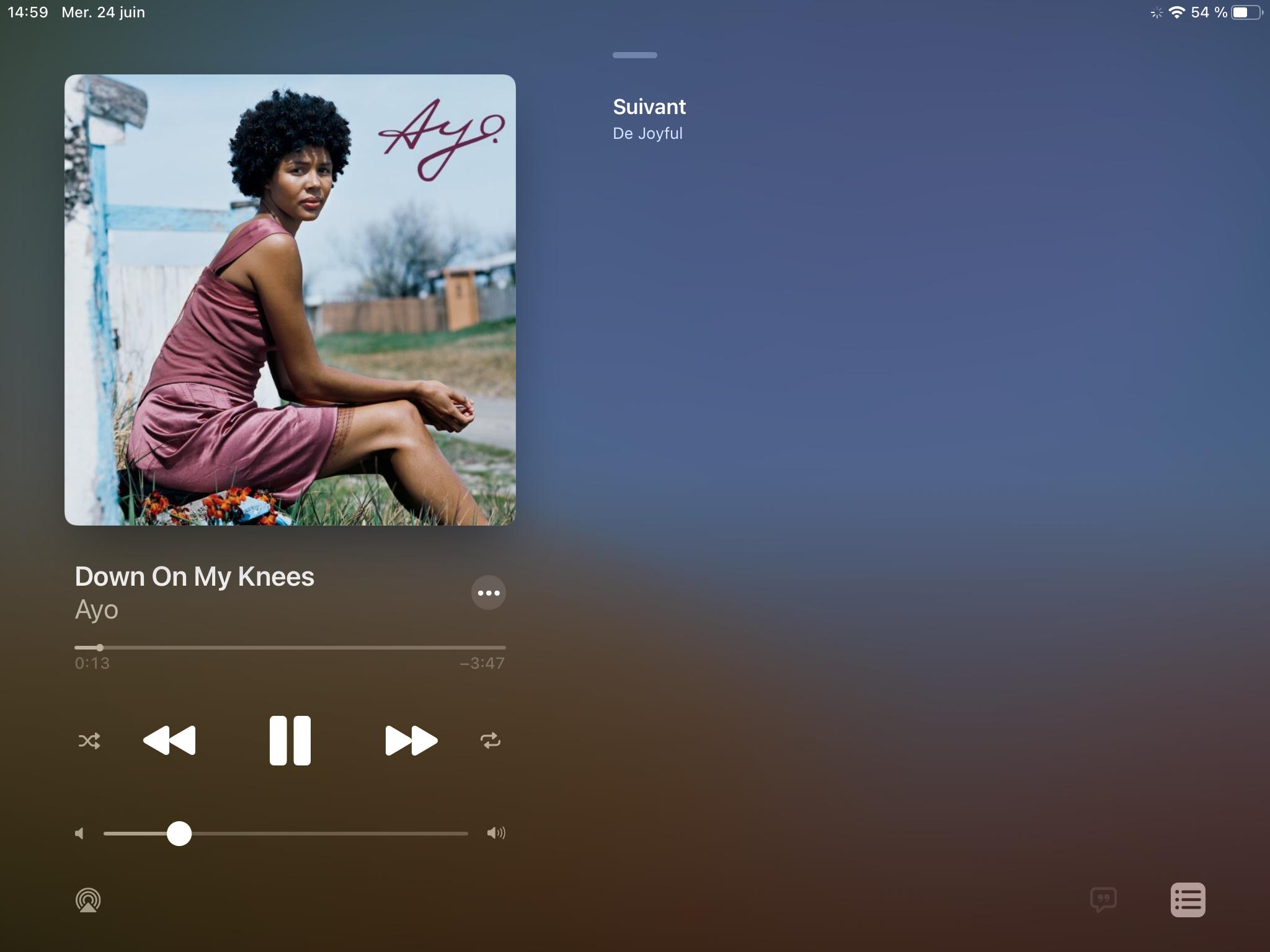 iPadOS 14 App Musique