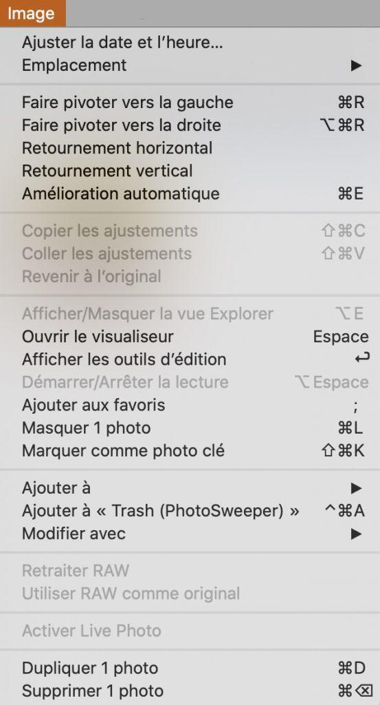 Menu Imagede Duplicate Photos Finder.
