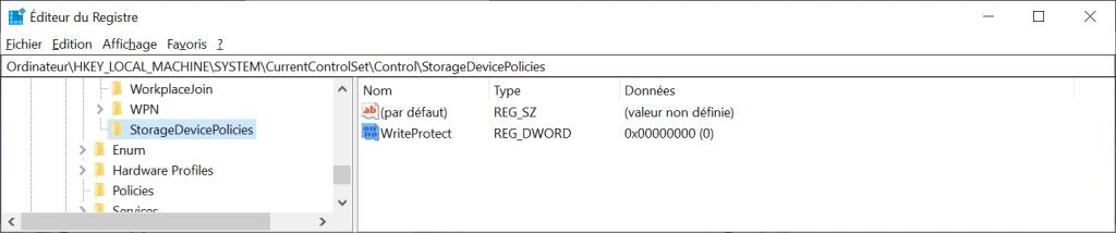 StorageDevicePolicies / WriteProtect