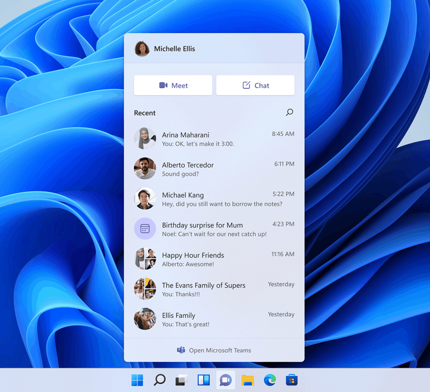 Teams Windows 11